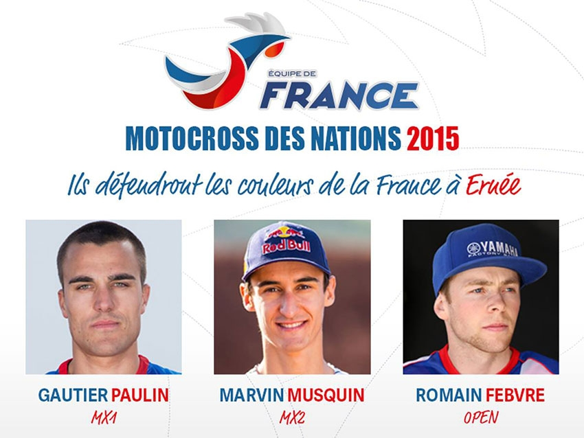 MOTOCROSS DES NATIONS : Gautier Paulin, Marvin Musquin